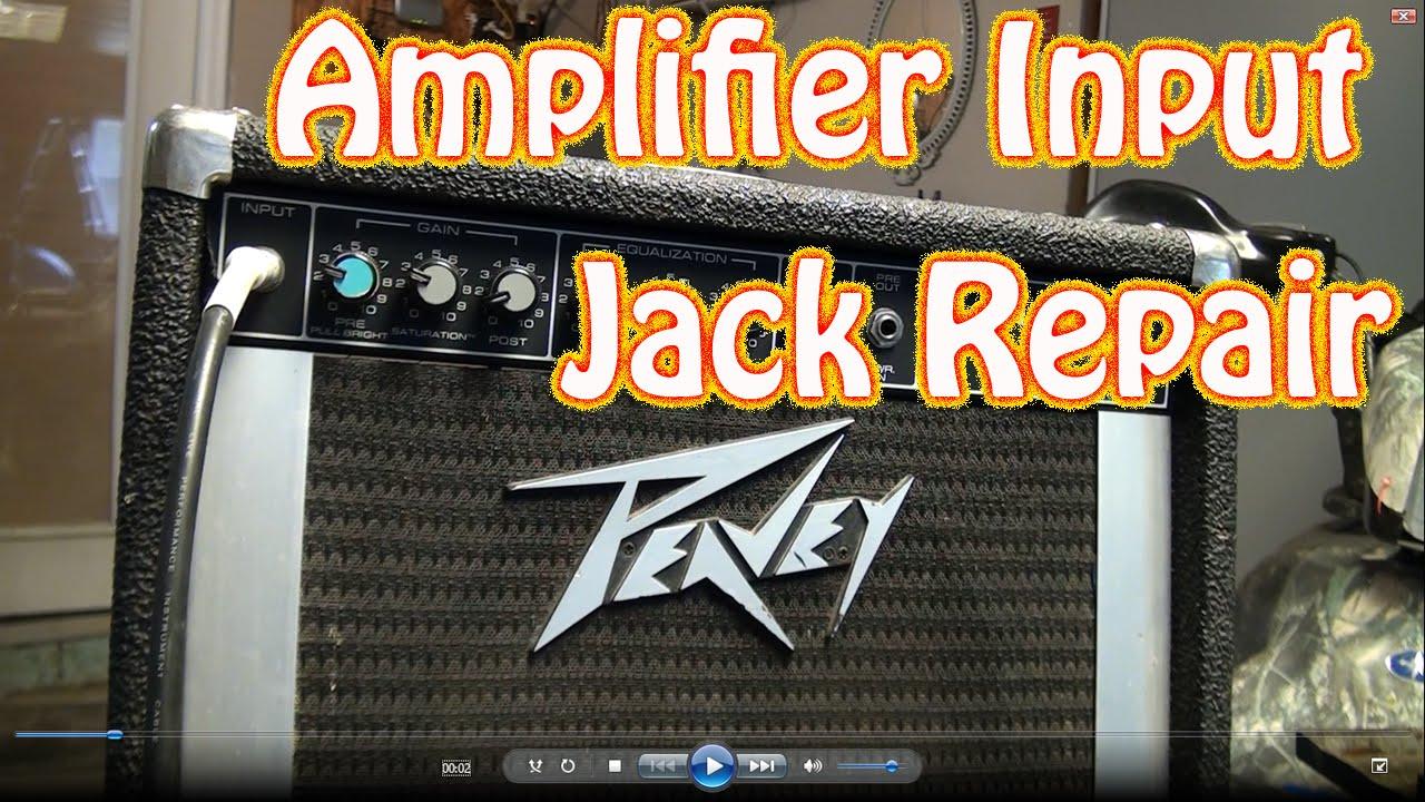 Diy Guitar Amplifier Input Jack Repair