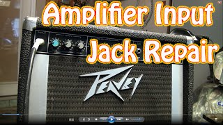 "DIY Guitar Amplifier Input Jack Repair - How to Fix a 1\4"" Jack Thats Cutting Out on Guitar Amp"