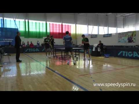 Boys doubles finale.Russian Junior Table Tennis Championship 2017. FHD.