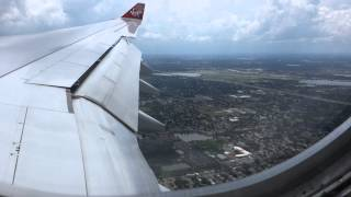 virgin plane from manchester to florida june 8 2013 going on holiday. on approach into orlando