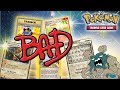 THE WORST POKEMON CARDS EVER PRINTED THROUGHOUT THE YEARS!