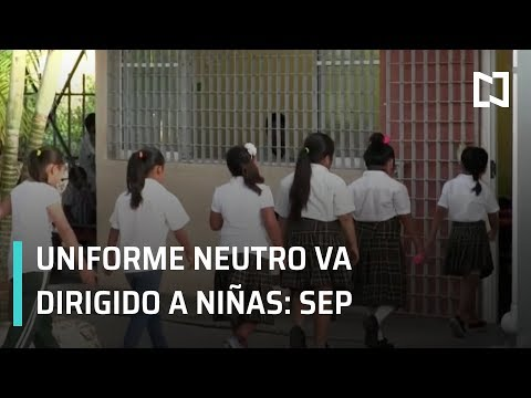 Uniforme Neutro va dirigido a niñas: SEP - En Punto con Denise Maerker