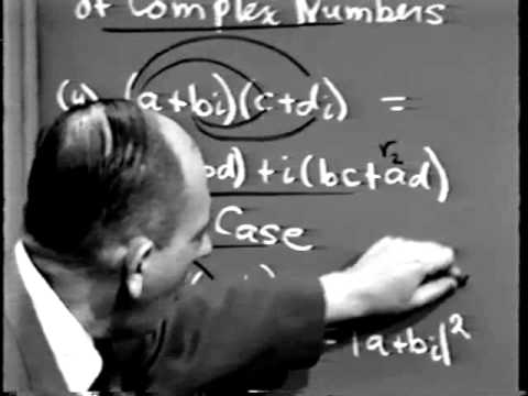 Part I: Complex Variables, Lec 1: The Complex Numbers