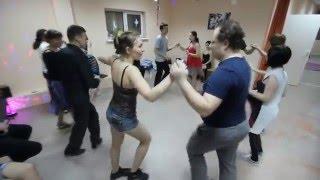 новогодняя милонга, Иркутск, 27 декабря 2015, танец бачата