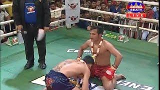 Roeung Sophorn vs Thav Oulan(Laos), Khmer Boxing 25 Feb 2017, Kun Khmer vs Muay Thai