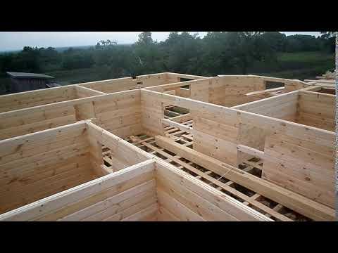 Строим стены дома из бруса