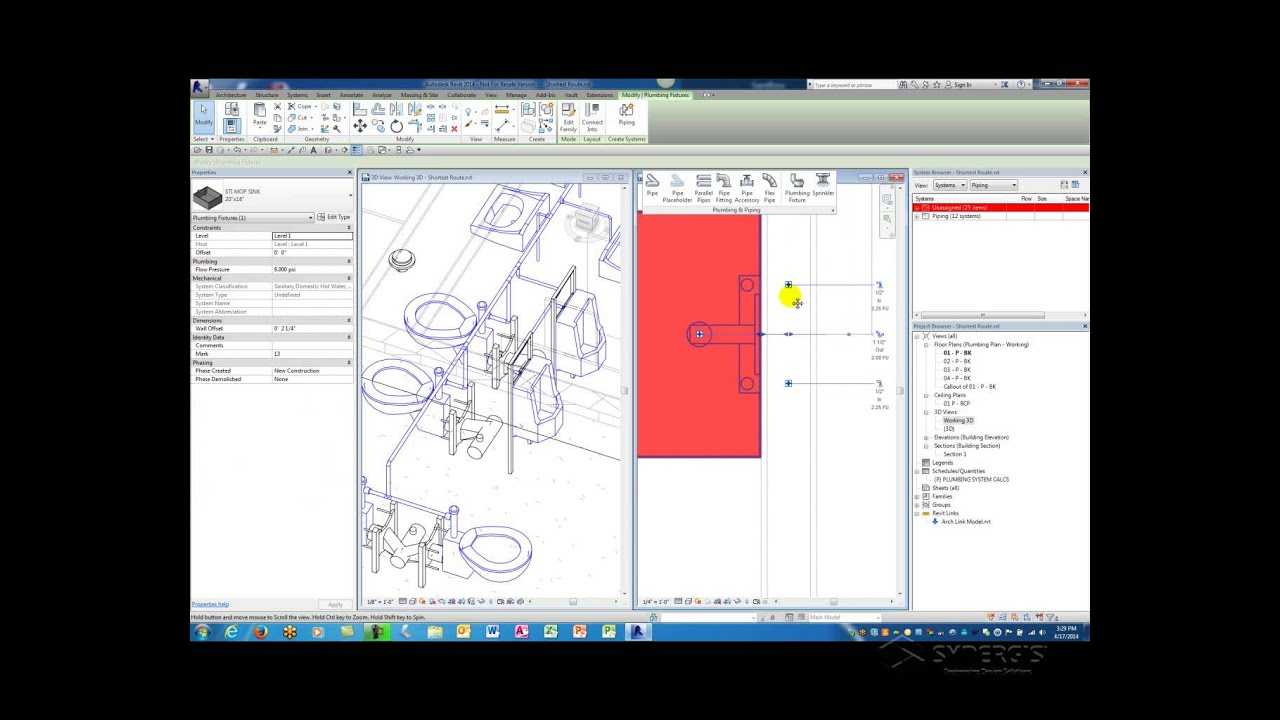 Video Tip: Find Me the Shortest Route – Piping in Revit MEP