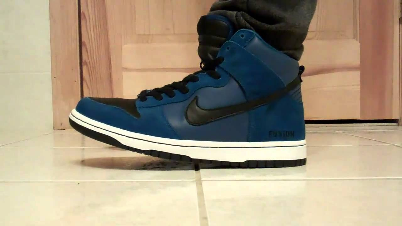 reputable site 21629 6d6a2 ... Nike ID Dunk High on Feet - YouTube ...