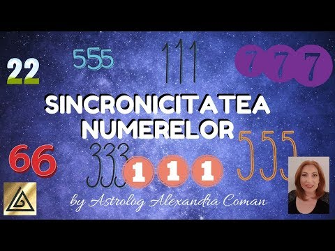 SINCRONICITATEA NUMERELOR - by Astrolog Alexandra Coman