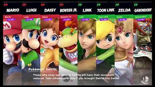 Super Smash Bros Ultimate Amiibo Fights   Request #1326 Team Mario vs Team Zelda