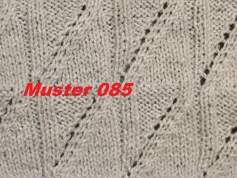 Muster 085**Stricken lernen* Muster für Pullover Strickjacke Mütze Stirnband