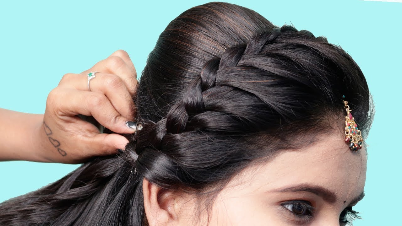 Easy Hairstyles For Party Wedding Work Hair Style Girl College Hairstyles For Medium Hair Youtube