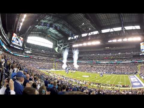 The Colts Fan Experience at Lucas Oil Stadium from a Go Pro HD Camera