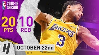 Josh Hart Full Highlights Lakers vs Spurs 2018.10.22 - 20 Pts, 10 Reb off the Bench