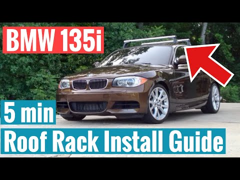 BMW 135i Roof Rack Installation - How To Install OEM BMW Roof Racks N63 F30 N54