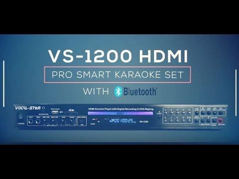 Vocal-Star VS-1200 Bluetooth HDMI Multi Format Karaoke Machine (e)