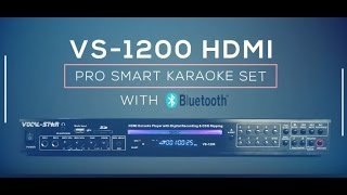Vocal-Star VS-1200 Bluetooth HDMI Multi Format Karaoke Machine (e)