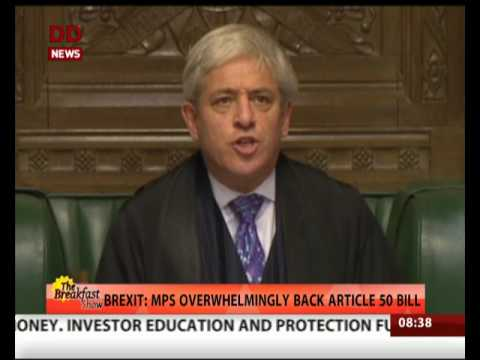 Brexit: MPs overwhelmingly back Article 50 bill