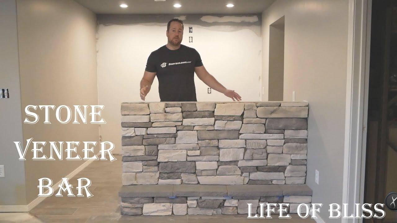Diy How To Stone Veneer Bar Or Fireplace El Durado Stone
