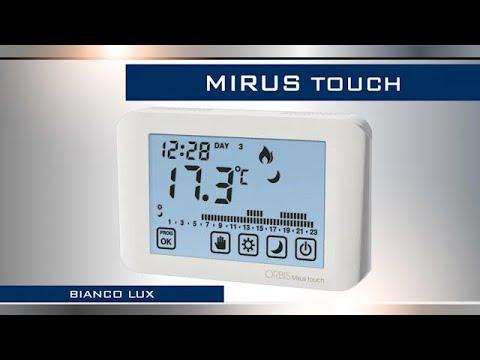 Vemer cronotermostato touch screen da parete chronos doovi for Cronotermostato orbis