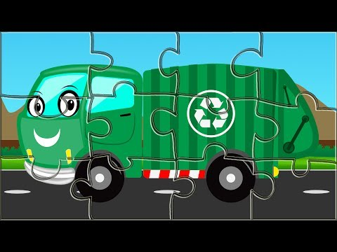 Garbage Truck | Puzzle Game | Kids Game | Street Vehicle for Kids & Toddlers
