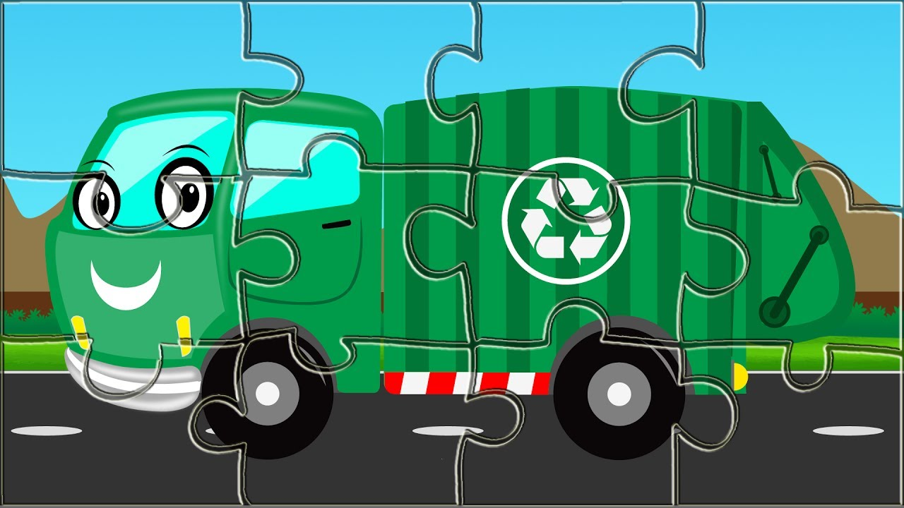 Garbage Truck Puzzle Game Kids Game Street Vehicle