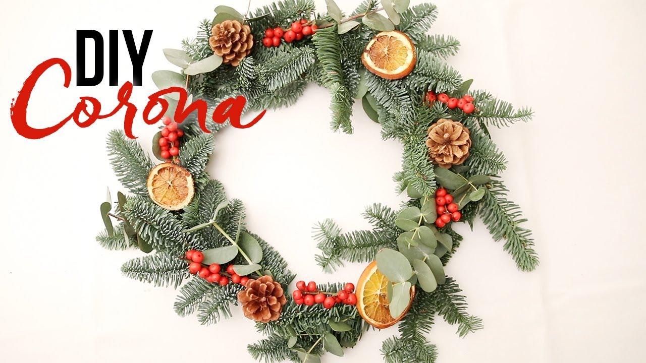 Cómo Hacer Una Corona De Navidad Natural Decoración Diy