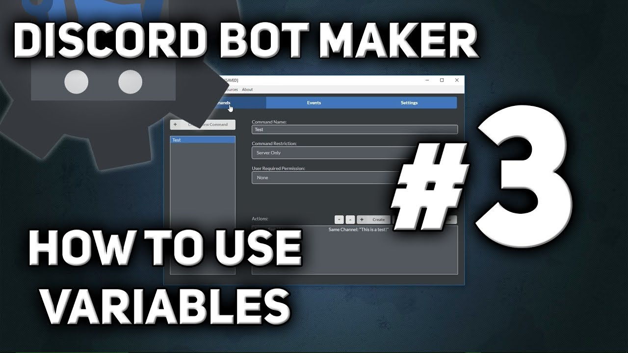 Discord Bot Maker Tutorial #3 - How to use Variables