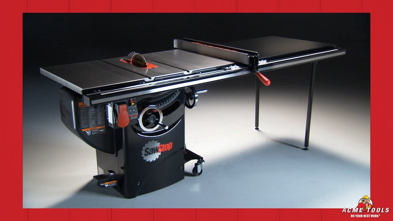 SawStop Professional Cabinet Table Saws  YouTube