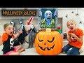 Find Your Slime Ingredients Challenge! Creepy Halloween Edition!!