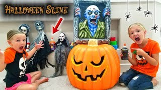Find Your Slime Ingredients Challenge! Creepy Halloween Edition!!