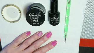 How to secure crystals to gel polish