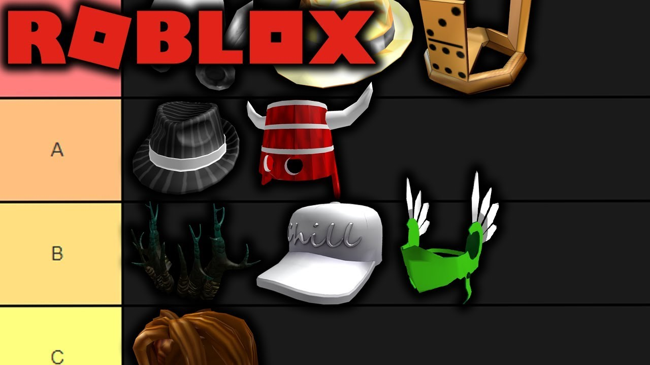 Roblox Item Tier List Youtube