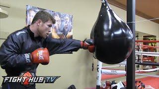 Canelo Alvarez Vs. James Kirkland Full Video- Canelo's Complete Boxing Workout