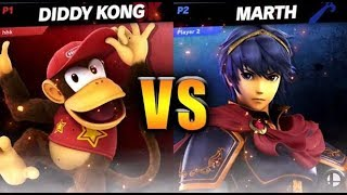 Diddy Kong vs Marth | Super Smash Bros. Ultimate Tournament Gameplay