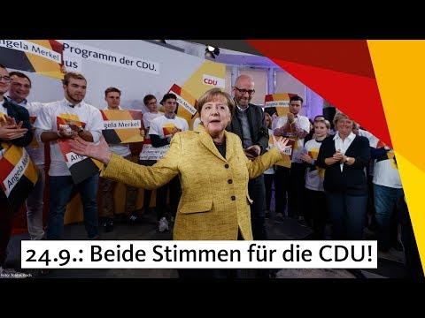 Angela Merkel: Beide Stimmen CDU!