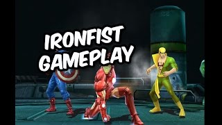 Marvel Future Fight - Ironfist gameplay & Ch3-11 (Dr Octopus Boss fight)