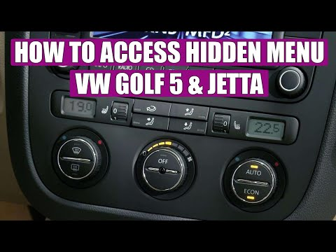 How to access hidden menu on VW Golf Mk5 Jetta in 3 simple steps