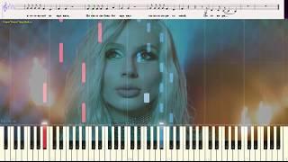 Парень - LOBODA (Ноты и Видеоурок для фортепиано) (piano cover)