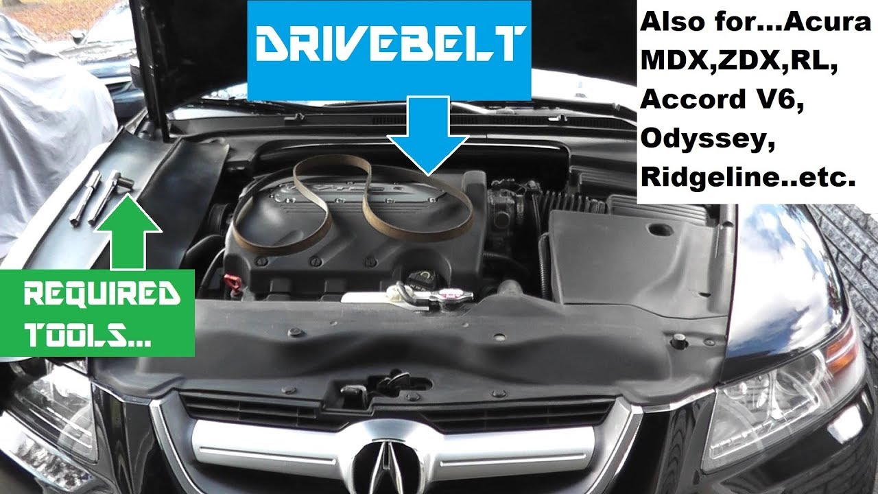 medium resolution of acura tl and mdx belt replacement honda accord and odyssey belt 2006 acura tl timing belt replacement on 2004 acura mdx belt diagram