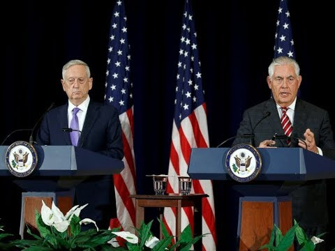 WATCH: Rex Tillerson, James Mattis and Japanese counterpart hold news conference on North Korea