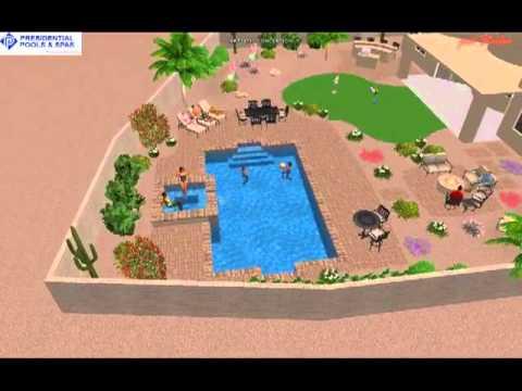 Virtual custom pool design by noah ingegneri of for Pool design tucson