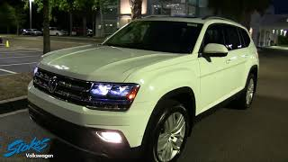 NIGHT REVIEW   2018 Volkswagen ATLAS SEL Premium   Overview of Exterior & Interior Lighting   LED