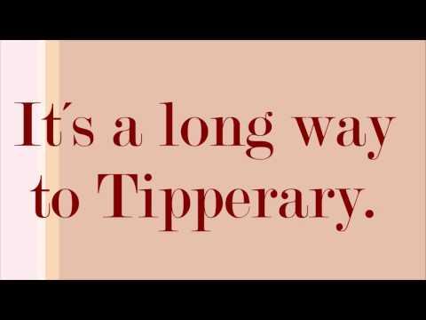 It´s a long way to Tipperary  lyrics