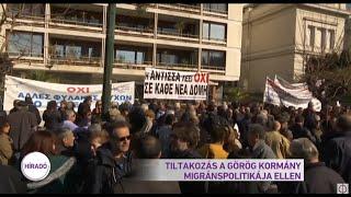 Tiltakozás a görög kormány migránspolitikája ellen