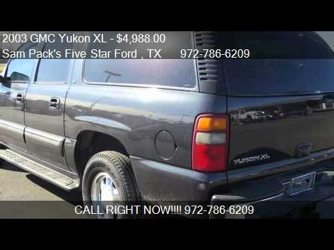 2003 gmc yukon xl for sale in carrollton tx 75006 youtube. Cars Review. Best American Auto & Cars Review