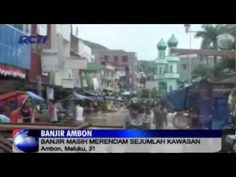 Tim SAR Cari Korban Hilang Banjir di Ambon