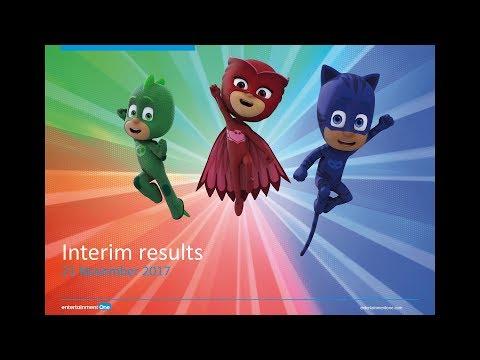 Entertainment One (ETO) H1 results presentation November 2017