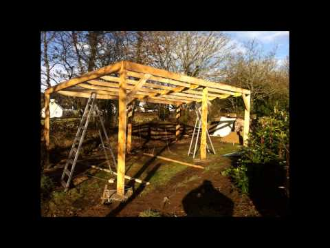 Building A Tractor Shed - Tractor Shed Build Part 2