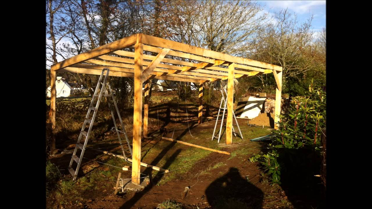 Building an outdoor tractor shelter part 2 - YouTube